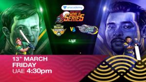 RS World Series South Africa Legends Vs SrilankaLegends on 13th Mar Fri 4:30 pm UAE