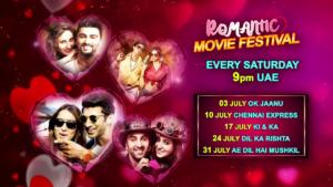 Romantic Movie Festival Every Saturday @9:00pm UAE